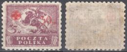 Poland 1921 Red Cross Overprint - Mi. 154 - MNH(**) - Unused Stamps