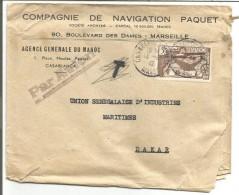 MAROC LETTRE AVION A EN TETE DE CASABLANCA BOURSE POUR LA FRANCE DU 14/9/1942 - Storia Postale
