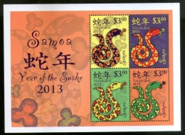 Samoa 2013 Chinese New Year Of The Snake Zodiac Sign Reptile M/s Sc 1139 MNH # 6243 - Chinese New Year