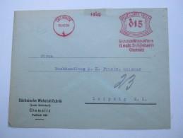 1931 , CHEMNITZ     ,  Firmen Freistempel Auf Beleg, Kleine Klebestelle Oben - Sowjetische Zone (SBZ)