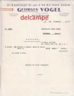 Facture Ancienne -  DETTWILLER (Bas Rhin)  - Fabrique De Chassures Georges VOGEL - Textile & Clothing