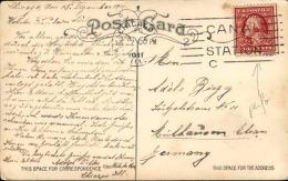 ETATS UNIS - Timbre Perforé Co Sur Carte Postale En  1911 Pour L ' Allemagne - A Voir - L  4092 - Perforados