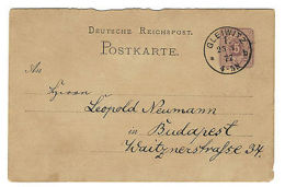 ALLEMAGNE / GERMANY 1877 CACHET ROND GLEIWITZ (Gliwice, Poland) POSTAL CARD MiP5 - Unclassified