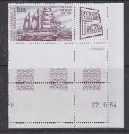 "TAAF 1984 Ship ""Gauss"" / Nordposta 1v (margin, Printing Date) ** Mnh (32616S) - Luchtpost"