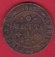 Angola - 1/2 Macuta 1853 - Angola