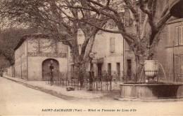 83 SAINT-ZACHARIE  Hôtel Et Fontaine Du Lion D'Or - Saint-Zacharie