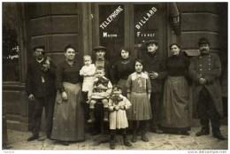 93 PANTIN  Carte-Photo  Devanture Café-Tabac FICHET 203 Rue De Paris.RARE TOP Sélection 2 Scans - Pantin