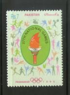 Pakistan 1998 National Games Olympic Emblem Torch Sports 1v Sc 889 MNH # 4238 - Pakistan