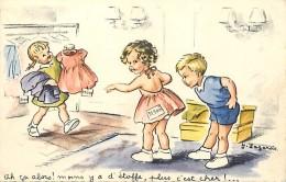 Ref L534 -illustrateur Enfants - Lagarde - Magasin De Vetements  -carte Bon Etat- - Illustrateurs & Photographes