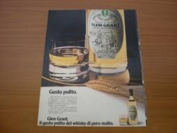 Advertising Pubblicità Whisky GLEN GRANT   1980 - Alcolici