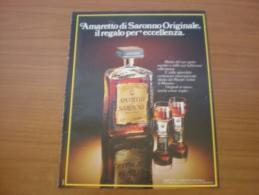 Advertising Pubblicità AMARETTO DI SARONNO  - 1981 - Alcolici