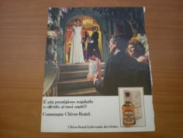 Advertising Pubblicità Whisky CHIVAS REGAL  1982 - Alcolici