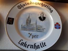* Ieper - Ypres - Yper * Uniek Bord Porselein IEPER Thuindagschieting A. Gruwez, Assiette - Ceramics & Pottery