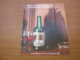 Advertising Pubblicità  SANDEMAN PORTO  - 1982 - Alcolici