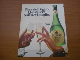 Advertising Pubblicità  PINOT DEL POGGIO - 1982 - Alcolici