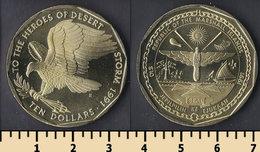 Marshall Islands 10 Dollars 1991 - Isole Marshall