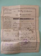 @ Feuillet Permission De 48 Heures Pour Un Soldat Du 79éme Régiment D'Infanterie,TOUL 3/06/1921  @ - Documentos