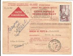 AVIS DE NIMES POUR TARASCON 1959 - Poststempel (Briefe)
