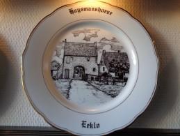 * Eeklo - Eecloo (Oost Vlaanderen - Gent) * 6 Unieke Borden Magvam Porselein Van Eeklo Te Ieper Assiette - Céramiques