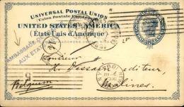 ETATS UNIS - Entier Postal De L ' Ambassade De France à Washington Pour La Belgique En 1894 - A Voir - L  4135