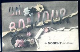 Cpa Du 94 Un Bonjour De Nogent Sur Marne   JIP17 - Nogent Sur Marne