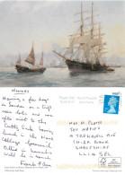 G Geidel, Cutty Sark In China, Art Painting Postcard Posted 2013 Stamp - Pittura & Quadri