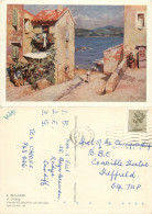 E Beaussier, St Tropez, Art Painting Postcard Posted 1984 Stamp - Peintures & Tableaux