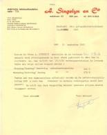 Factuur Facture - Contract Jaarbeurs - A. Singelyn & C° - Gent 1981 - Electricity & Gas