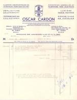 Factuur Facture - Verlichting Oscar Cardon - Gent 1956 - Electricity & Gas