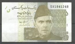 PAKISTAN USED BANKNOTE RS 5 - Pakistan