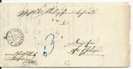 ALLEMAGNE - 1856 - LETTRE De KIRCHHEIM (BADEN WÜRTT.) - Deutschland