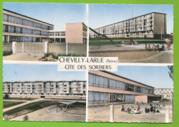 CHEVILLY-LARUE - CITE DES SORBIERS - Multivues Photo Véritable Colorisée Circulé 1964 - Chevilly Larue
