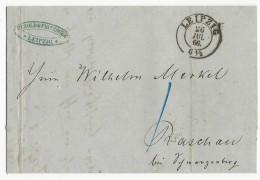 ALLEMAGNE - 1866 - LETTRE De LEIPZIG Pour RASCHAU - Deutschland