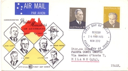 AUSTRALIA  FDC  PRIME MINISTERS OF AUSTRALIA (OTT160028) - Francobolli