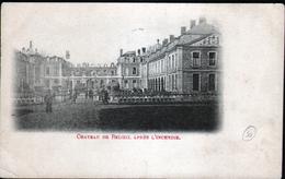 BELGIQUE, CHATEAU DE BELOEIL APRES L'INCENDIE - Beloeil