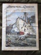 La Domenica Del Corriere 19 Agosto 1906 Sirio Spagna Regina Elena Maccheroni - Vieux Papiers