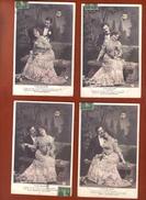 4 Cpa Fantaisie Couple - Clair De Lune - Couples