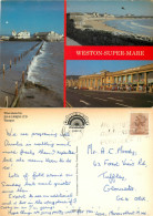 Weston-super-Mare, Somerset, England Postcard Posted 1985 Stamp - Weston-Super-Mare