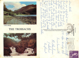 Loch Lubnaig, Falls Of Leny, Perthshire, Scotland Postcard Posted 1965 Stamp - Perthshire