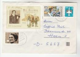 1986 EAST GERMANY COVER Stamps MINIATURE SHEET Carl Maria VON WEBER Composer INDIRA GANDHI , Ddr Music - Music
