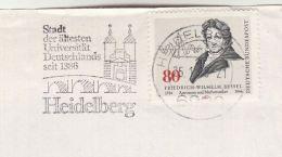 1985  GERMANY COVER Stamps BESSEL Atronomer, SLOGAN  Pmk HEIDELBURG UNIVERSITY SINCE 1386, Mathematics Astronomy - Astronomy