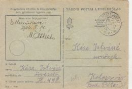 50333- WARFIELD POSTCARD, WW2, CENSORED, PO NR 448, 1944, HUNGARY