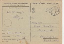 50334- WARFIELD POSTCARD, WW2, CENSORED, PO NR 114, 1944, HUNGARY