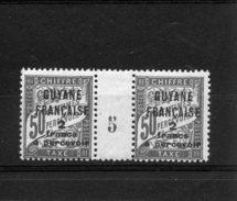 Guyane Française _  50c Millésimes Chiffre Taxe (1905  ) N°11