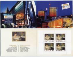 LATVIA 2005 NORDIA Booklet With Art Michel 636 X 4  MNH / ** - Latvia