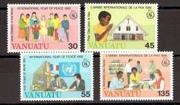Vanuatu - 1986 - N° 751 à 754 - Neufs ** - Année Internationale De La Paix - Vanuatu (1980-...)