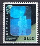 New Zealand MNH Moon Landing Hologram Stamp - Space