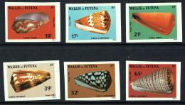 Vie Marine  1983  Cones  Yv 306-311  Non Dentelés ** - Wallis And Futuna