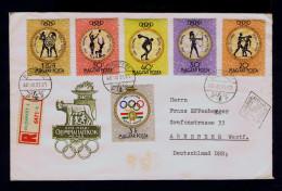 Sports 1960 Roma Olimpique Jeux Olympic Games Fdc Budapest Boxe Athlétisme Tir à L´Arc Medall Sp4234 - Boxen