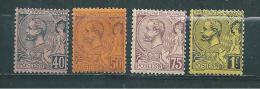 Monaco Timbres De 1891/94  N°17 A 20 Neuf  * Cote 76€ - Monaco